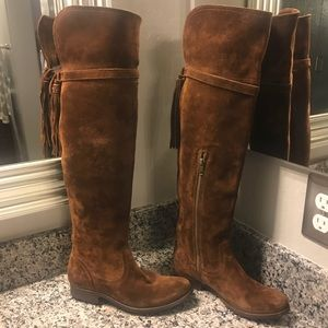54f6186e61f Frye Shoes - New Frye Clara Tassel Over The Knee Boot Size 6